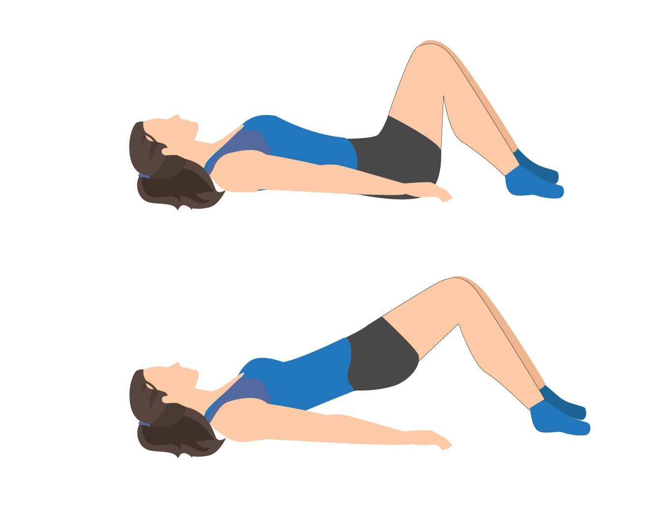 Sciatica Exercise Upward Pelvic Tilt